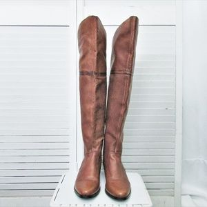 Steve Madden KOMA  tan over the knee leather boots